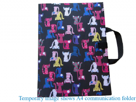 A4 Communication Book - Rigid Covers - Cats